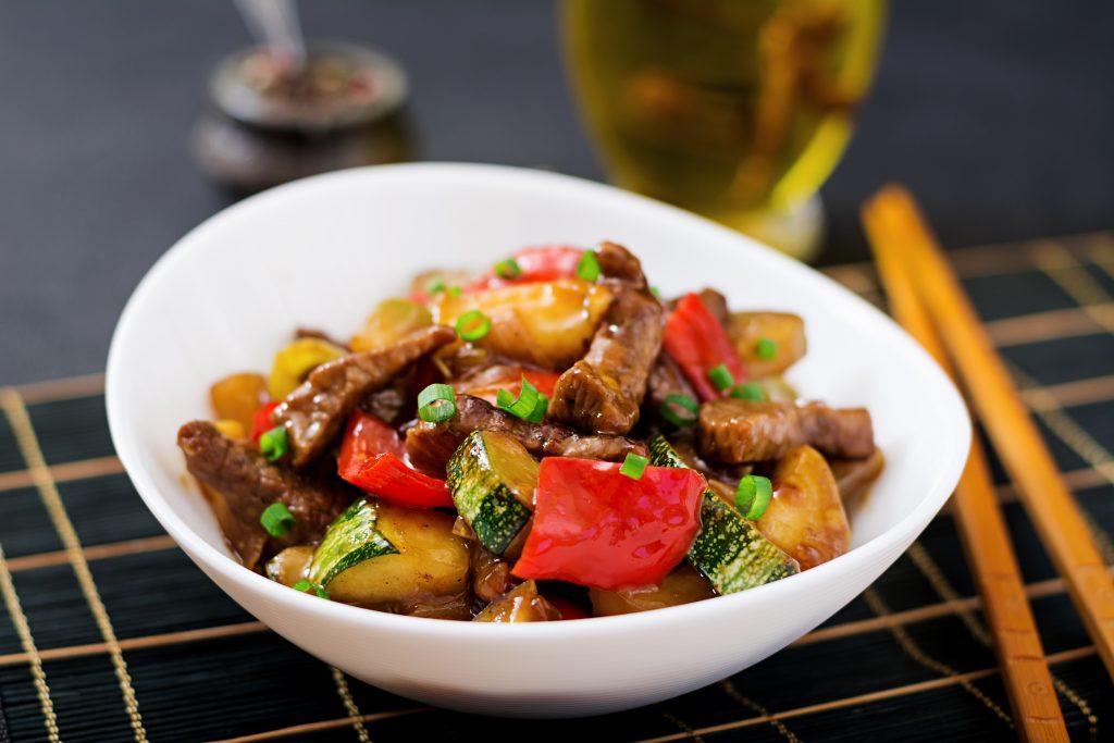 Stir Fry beef with veg in thai thick gravy